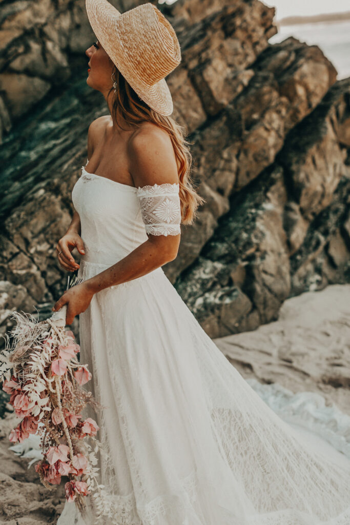 Grace Loves Lace off the shoulder wedding dress